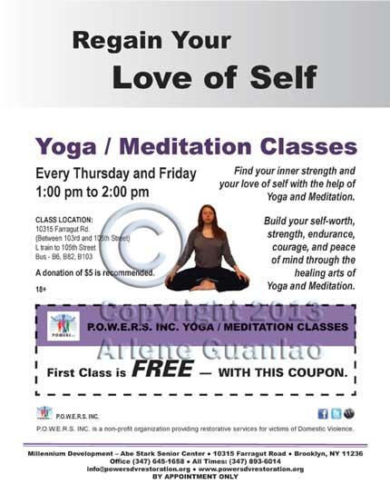 Yoga/Meditation Class Flyer