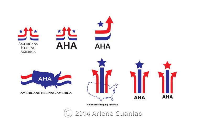 various AHA logos